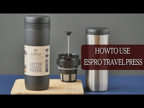 Espro Travel Press: How to make French Press Style Coffee (Stainless Steel Travel Mug)