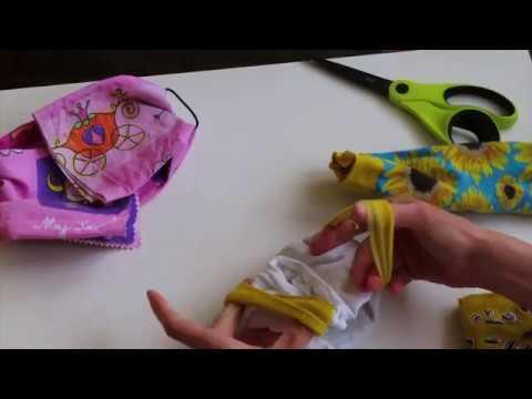 Ako si doma vyrobiť rúško bez šitia | 2 typy