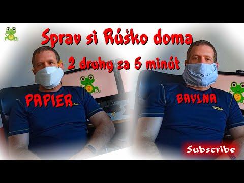 Ako si vyrobiť rúško na tvár z toho čo mame doma bez šitia - ochrana proti koronavírusu