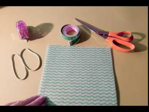 Výroba rúška 3 - detské rúško bez použitia šijaceho stroja s vreckom na filter