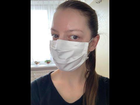 Ako ušiť ochranné rúško na tvár bez šijacieho stroja (20x20 cm)